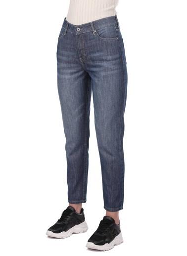 BLUE WHİTE Kadın Mom Fit Jean Pantolon Gri